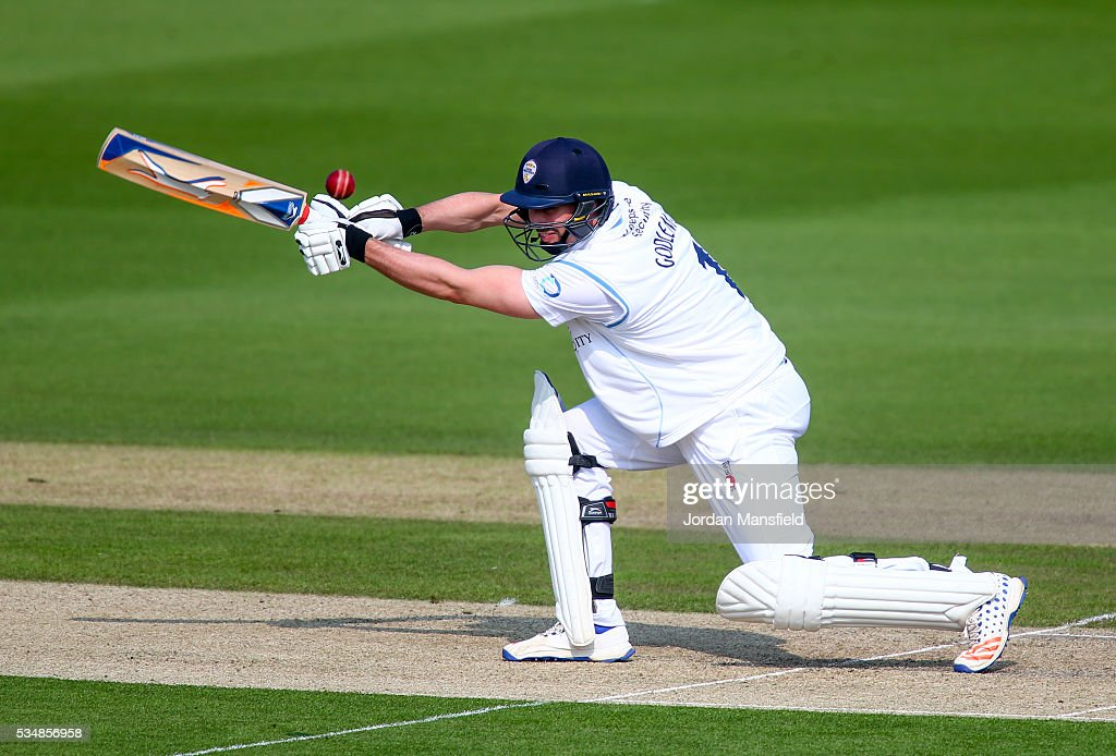 Billy Godleman of Derbyshire bats during day one of the Specsavers County Championship Division Two match between Sussex and Derbyshire at The 1st Central County Ground on May 28, 2016 in Hove, England.