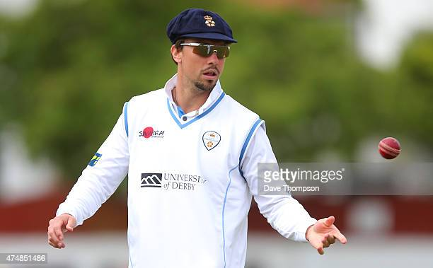 Billy Godleman of Derbyshire during the LV County Championship Division Two match between Lancashire and Derbyshire at Southport Birkdale Cricket...