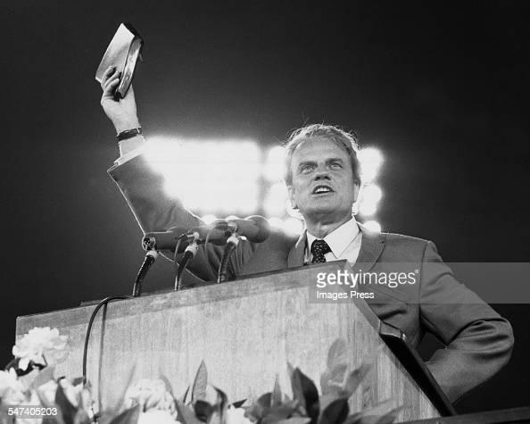 Billy Graham at Shea Stadium circa 1970 in Flushing Queens