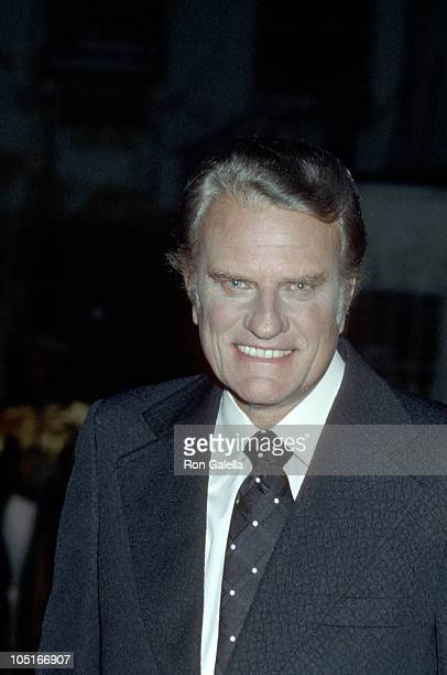 Billy Graham during Rev Billy Graham After a Taping of 'The Merv Griffin Show' at Merv Griffin Studios in Hollywood California United States