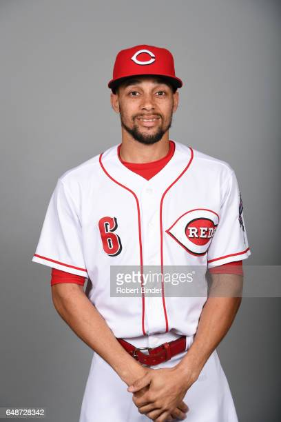 Billy Hamilton of the Cincinnati Reds poses during Photo Day on Saturday February 18 2017 at Goodyear Ballpark in Goodyear Arizona