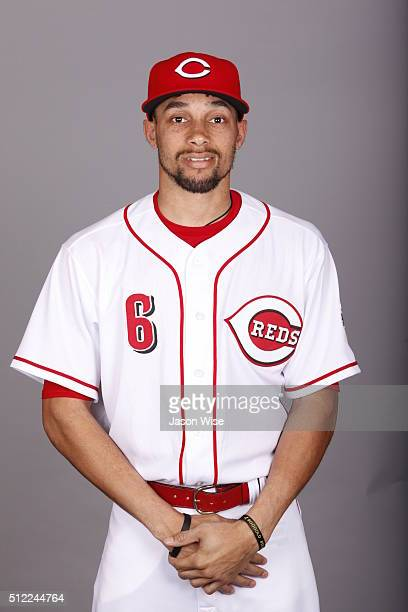 Billy Hamilton of the Cincinnati Reds poses during Photo Day on Wednesday February 24 2016 at Goodyear Ballpark in Goodyear Arizona