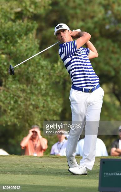 Billy Horschel during the first round of the PGA Championship on August 10 2017 at Quail Hollow Golf Club in Charlotte NC