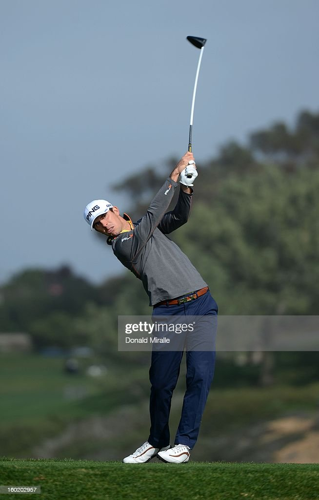 Billy Horschel hits off the tee box during the Third Round at the Farmers Insurance Open at Torrey Pines Golf Course on January 27, 2013 in La Jolla, California.