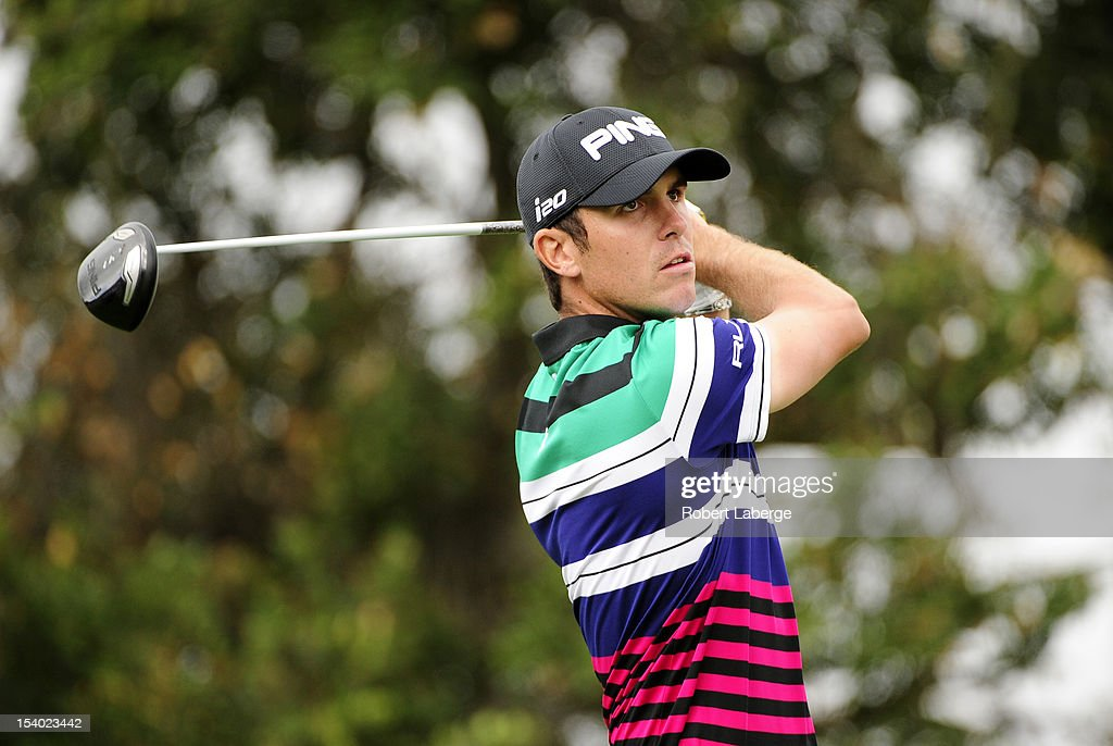 <a gi-track='captionPersonalityLinkClicked' href=/galleries/search?phrase=Billy+Horschel&family=editorial&specificpeople=565390 ng-click='$event.stopPropagation()'>Billy Horschel</a> makes a tee shot on the 18th hole during round two of the Frys.com Open at the CordeValle Golf Club on October 12, 2012 in San Martin, California.