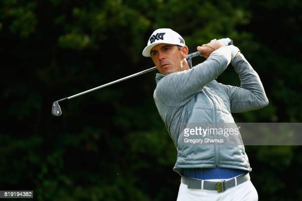 Billy Horschel of the United States hits his tee shot on the 5th hole during the first round of the 146th Open Championship at Royal Birkdale on July...