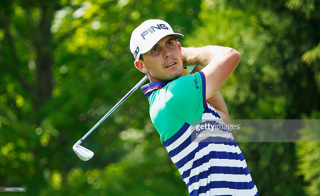 <a gi-track='captionPersonalityLinkClicked' href=/galleries/search?phrase=Billy+Horschel&family=editorial&specificpeople=565390 ng-click='$event.stopPropagation()'>Billy Horschel</a> of the United States watches his tee shot on the second hole during the third round of the TOUR Championship by Coca-Cola at the East Lake Golf Club on September 13, 2014 in Atlanta, Georgia.