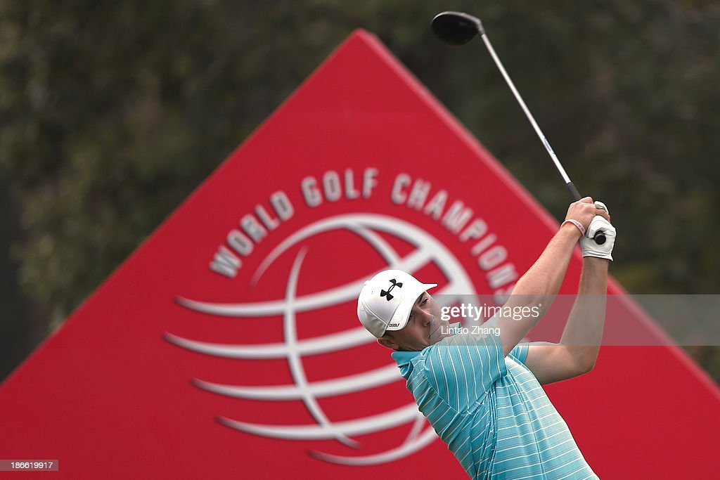 Billy Horschel of the USA plays a shot at the 18th hole during the third round of the WGC - HSBC Champions at the Sheshan International Golf Club on November 2, 2013 in Shanghai, China.