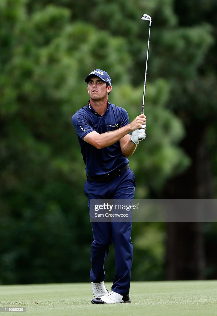 <a gi-track='captionPersonalityLinkClicked' href=/galleries/search?phrase=Billy+Horschel&family=editorial&specificpeople=565390 ng-click='$event.stopPropagation()'>Billy Horschel</a> plays a shot on the 7th hole during the final round of the True South Classic at Annandale Golf Club on July 22, 2012 in Madison, Mississippi.