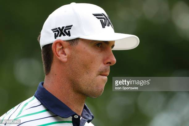 Billy Horschel plays the 8th hole during the second round of the World Golf ChampionshipBridgestone Invitational on August 04 2017 at the Firestone...