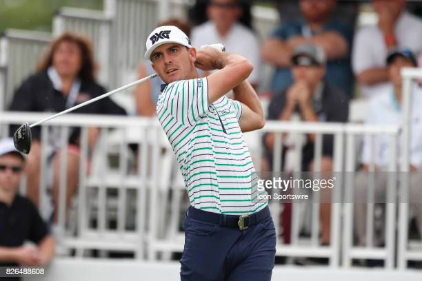 Billy Horschel tees off on the first hole during the second round of the World Golf ChampionshipBridgestone Invitational on August 04 2017 at the...