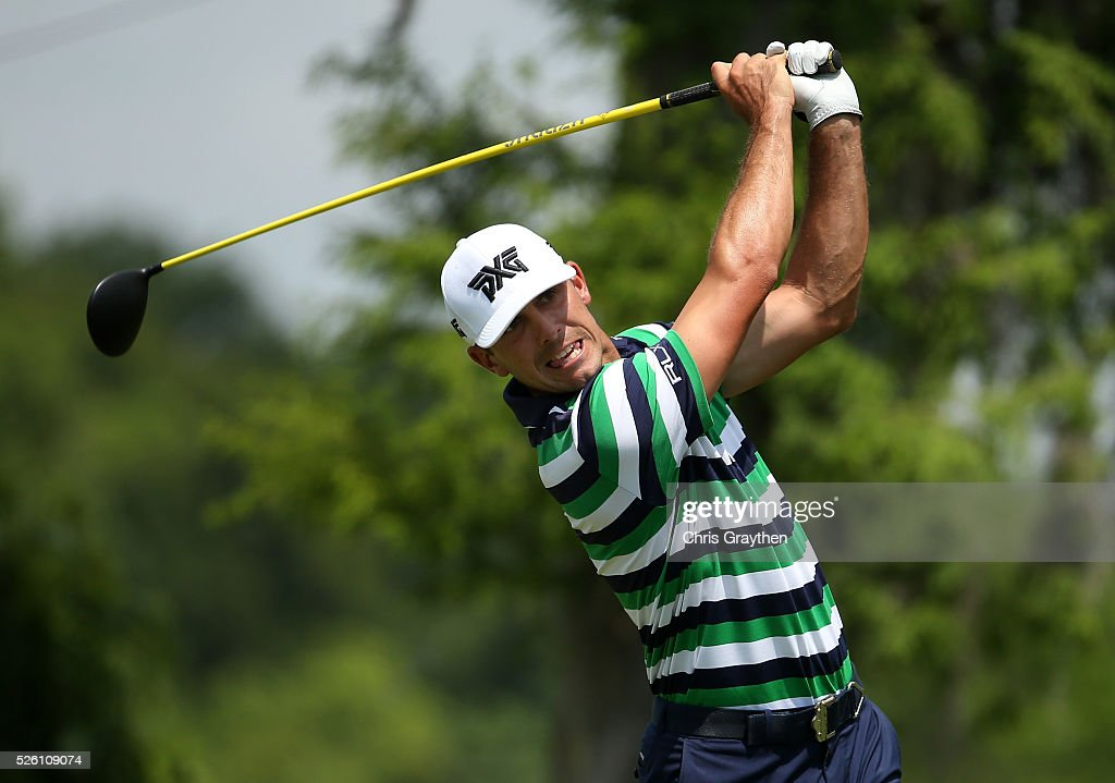 <a gi-track='captionPersonalityLinkClicked' href=/galleries/search?phrase=Billy+Horschel&family=editorial&specificpeople=565390 ng-click='$event.stopPropagation()'>Billy Horschel</a> tees off on the second hole during the second round of the Zurich Classic of New Orleans at TPC Louisiana on April 29, 2016 in Avondale, Louisiana.