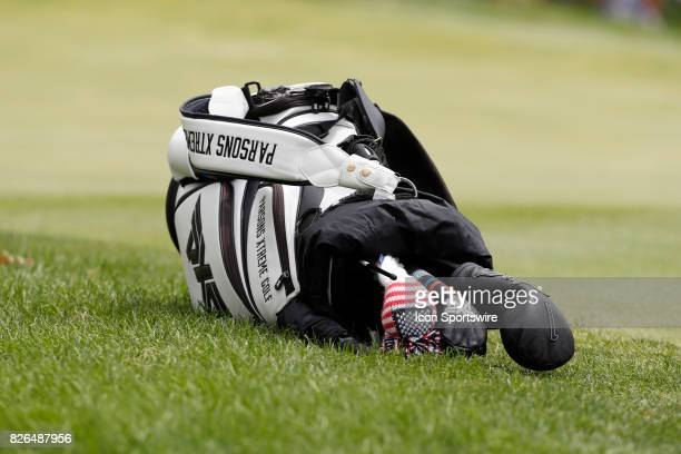 Billy Horschel's bag rests on the 8th hole during the second round of the World Golf ChampionshipBridgestone Invitational on August 04 2017 at the...