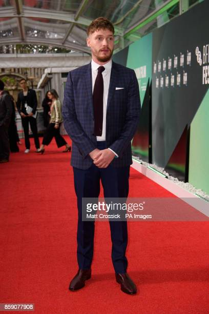 Billy Howle attending the premiere of On Chesil Beach as part of the BFI London Film Festival at the Embankment Gardens Premiere London PRESS...