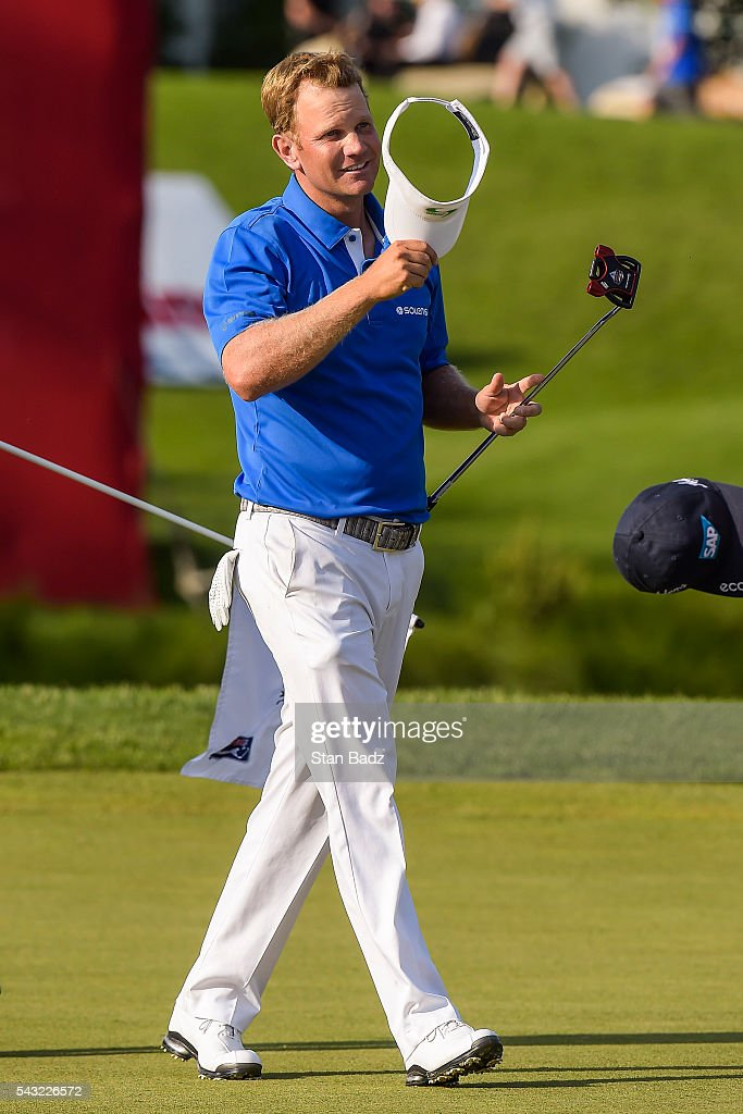 <a gi-track='captionPersonalityLinkClicked' href=/galleries/search?phrase=Billy+Hurley+III&family=editorial&specificpeople=805381 ng-click='$event.stopPropagation()'>Billy Hurley III</a> celebrates his three stroke victory on the 18th hole green during the final round of the Quicken Loans National at Congressional Country Club (Blue) on June 26, 2016 in Bethesda, Maryland.