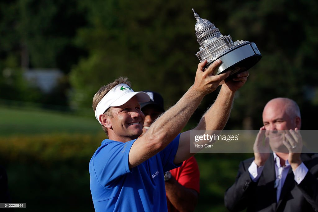 <a gi-track='captionPersonalityLinkClicked' href=/galleries/search?phrase=Billy+Hurley+III&family=editorial&specificpeople=805381 ng-click='$event.stopPropagation()'>Billy Hurley III</a> celebrates with the trophy after winning the Quicken Loans National at Congressional Country Club on June 26, 2016 in Bethesda, Maryland.