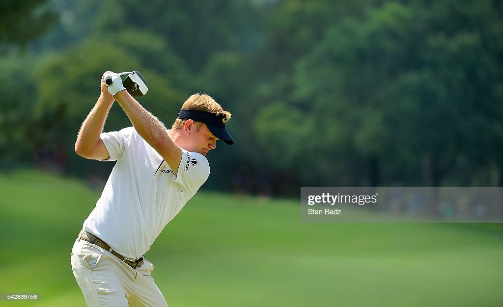 <a gi-track='captionPersonalityLinkClicked' href=/galleries/search?phrase=Billy+Hurley+III&family=editorial&specificpeople=805381 ng-click='$event.stopPropagation()'>Billy Hurley III</a> hits a drive on the eighth hole during the second round of the Quicken Loans National at Congressional Country Club (Blue) on June 24, 2016 in Bethesda, Maryland.