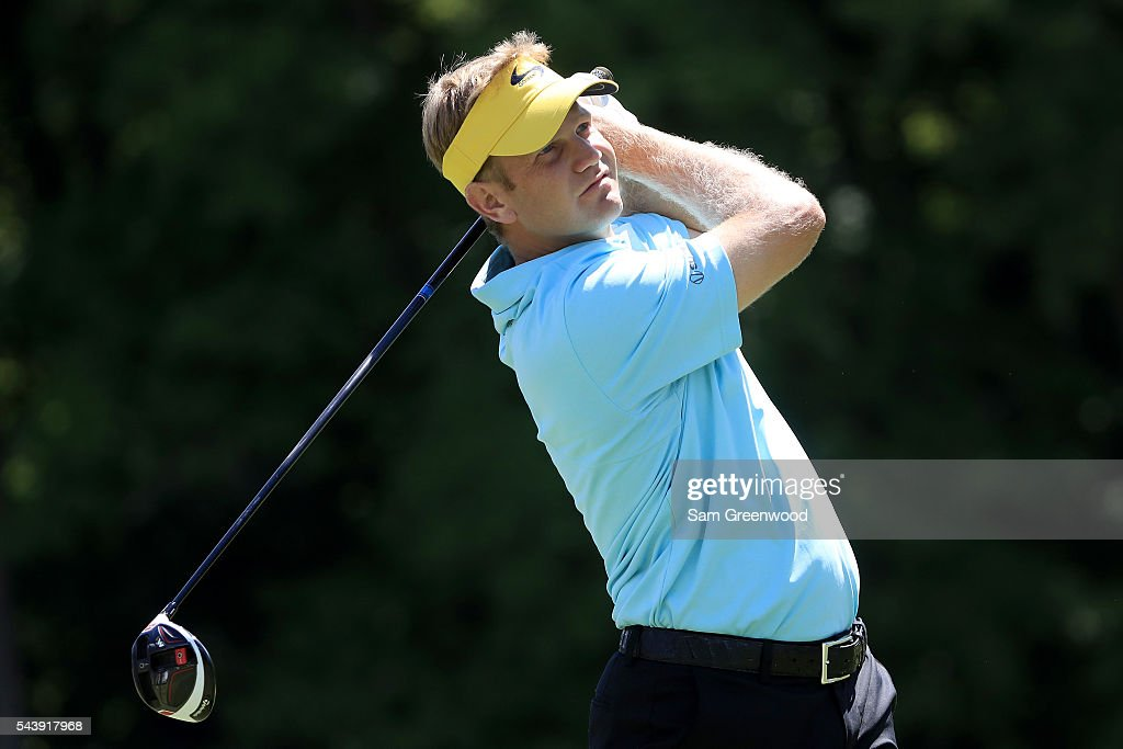 <a gi-track='captionPersonalityLinkClicked' href=/galleries/search?phrase=Billy+Hurley+III&family=editorial&specificpeople=805381 ng-click='$event.stopPropagation()'>Billy Hurley III</a> hits off the sixth tee during the first round of the World Golf Championships - Bridgestone Invitational at Firestone Country Club South Course on June 30, 2016 in Akron, Ohio.