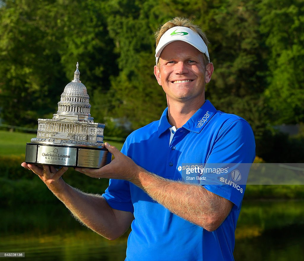 <a gi-track='captionPersonalityLinkClicked' href=/galleries/search?phrase=Billy+Hurley+III&family=editorial&specificpeople=805381 ng-click='$event.stopPropagation()'>Billy Hurley III</a> pose with the trophy after the final round of the Quicken Loans National at Congressional Country Club (Blue) on June 26, 2016 in Bethesda, Maryland.
