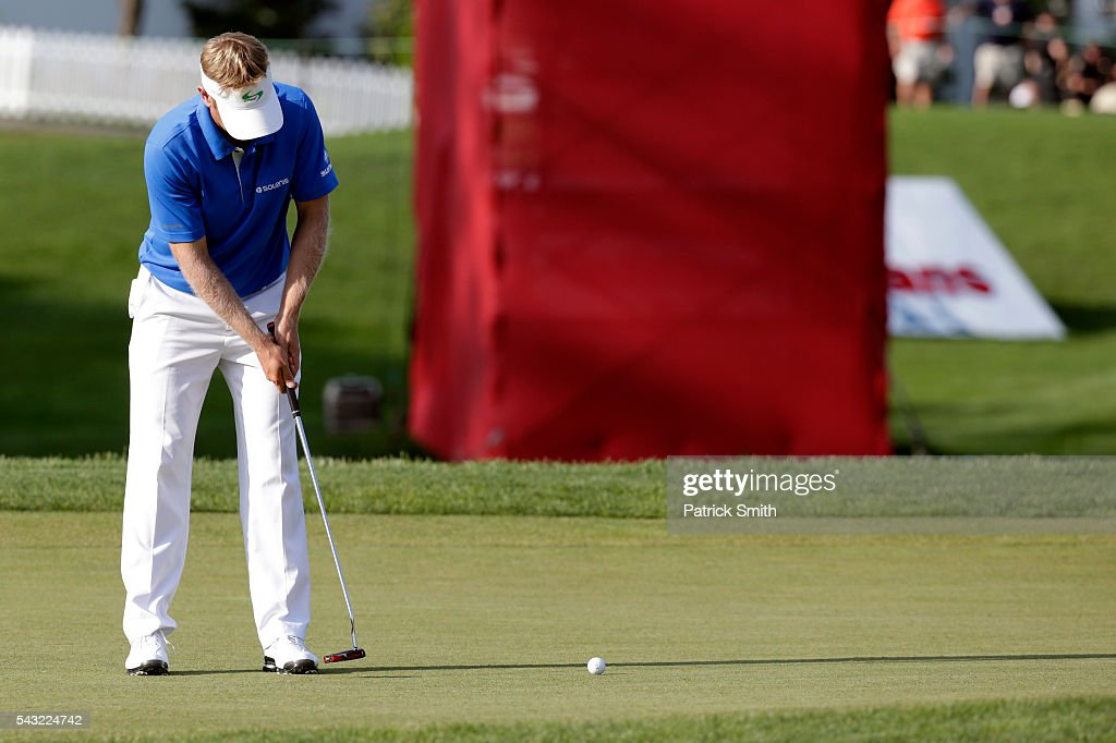 <a gi-track='captionPersonalityLinkClicked' href=/galleries/search?phrase=Billy+Hurley+III&family=editorial&specificpeople=805381 ng-click='$event.stopPropagation()'>Billy Hurley III</a> putts on the 18th green to win the Quicken Loans National at Congressional Country Club on June 26, 2016 in Bethesda, Maryland.