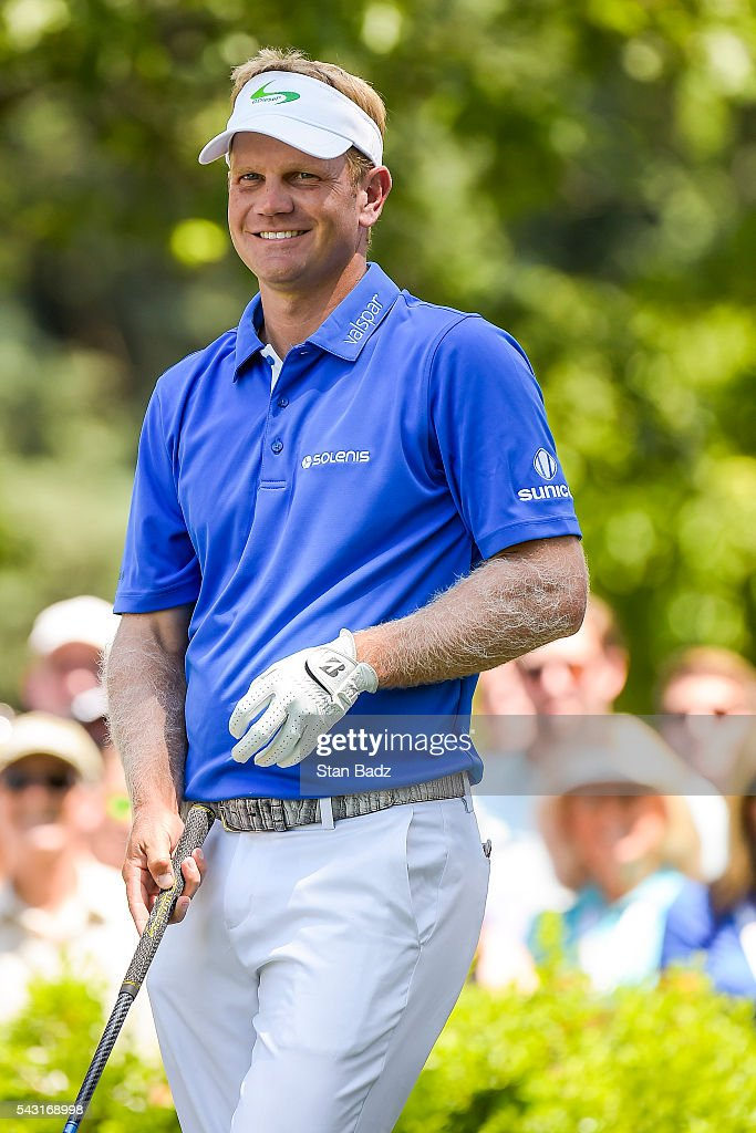 <a gi-track='captionPersonalityLinkClicked' href=/galleries/search?phrase=Billy+Hurley+III&family=editorial&specificpeople=805381 ng-click='$event.stopPropagation()'>Billy Hurley III</a> smiles on the first hole tee box during the final round of the Quicken Loans National at Congressional Country Club (Blue) on June 26, 2016 in Bethesda, Maryland.