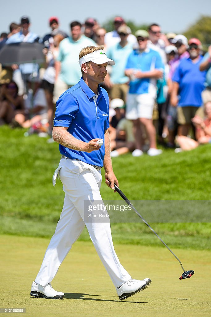 <a gi-track='captionPersonalityLinkClicked' href=/galleries/search?phrase=Billy+Hurley+III&family=editorial&specificpeople=805381 ng-click='$event.stopPropagation()'>Billy Hurley III</a> waves his ball to fans after making par on the third hole green during the final round of the Quicken Loans National at Congressional Country Club (Blue) on June 26, 2016 in Bethesda, Maryland.