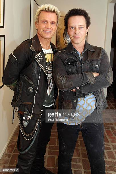 Billy Idol and Billy Morrison attend Subliminal Projects presents SID Superman Is Dead a collaborative exhibition by Dennis Morris and Shepard Fairey...
