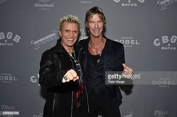 Billy Idol and Duff McKagan attend CBGB Music Film Festival 2014 HQ Kickoff event with Keynote Speaker Billy Idol on October 9 2014 in New York City