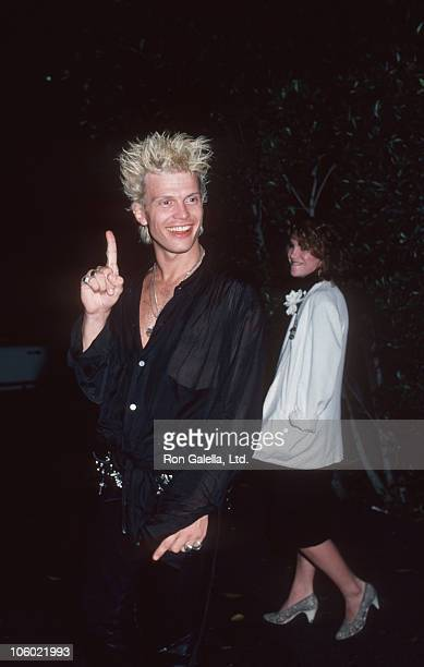Billy Idol and Melissa Gilbert during Billy Idol Sighted at Le Dome Restaurant in West Hollywood August 16 1986 at Le Dome Restaurant in West...