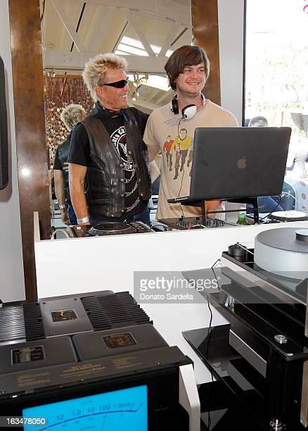 Billy Idol and Willem Broad attend the John Varvatos 10th Annual Stuart House Benefit presented by Chrysler Kids Tent by Hasbro Studios at John...