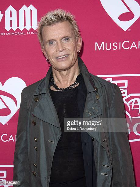Billy Idol arrives at the 11th Annual MusiCares Map Fund Benefit Concert at Best Buy Theater on May 28 2015 in New York City