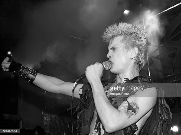 Billy Idol circa 1983 in New York City