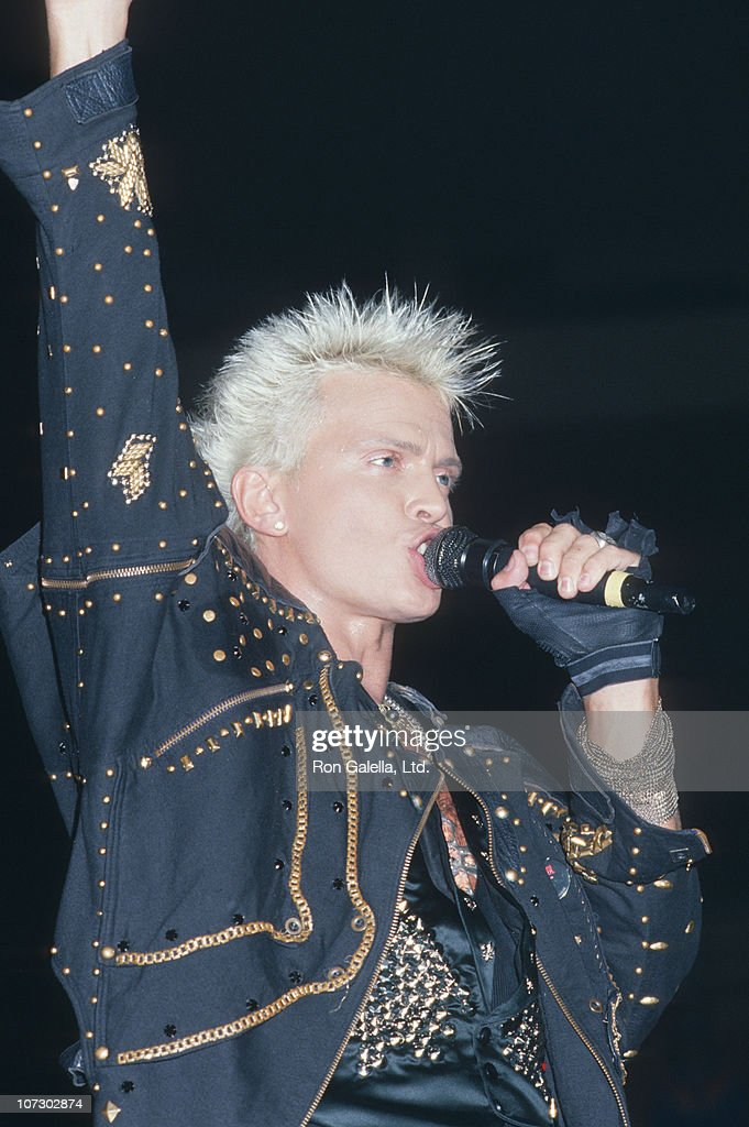 <a gi-track='captionPersonalityLinkClicked' href=/galleries/search?phrase=Billy+Idol&family=editorial&specificpeople=138578 ng-click='$event.stopPropagation()'>Billy Idol</a> during <a gi-track='captionPersonalityLinkClicked' href=/galleries/search?phrase=Billy+Idol&family=editorial&specificpeople=138578 ng-click='$event.stopPropagation()'>Billy Idol</a> in Concert at Madison Square Garden in New York City - August 8, 1987 at Madison Square Garden in New York City, New York, United States.