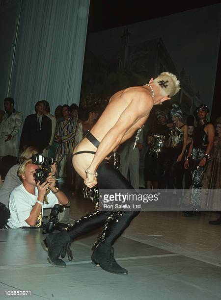 Billy Idol during John Paul Gaultier Fashion Show To Benefit AmFar at Shrine Auditorium in Los Angeles California United States