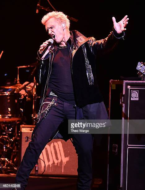 Billy Idol performs at The Beacon Theatre on January 28 2015 in New York City