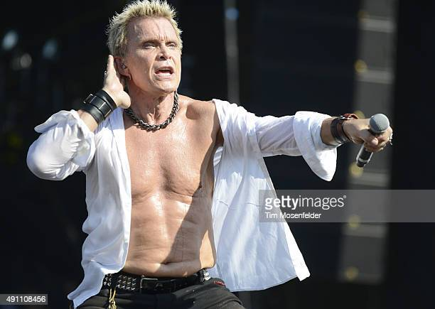 Billy Idol performs during the ACL Music Festival at Zilker Park on October 2 2015 in Austin Texas