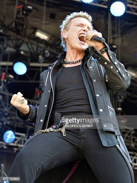 Billy Idol performs during the Hellfest heavy metal and hard rock music festival Hellfest in Clisson near Nantes western France on June 19 2015 AFP...