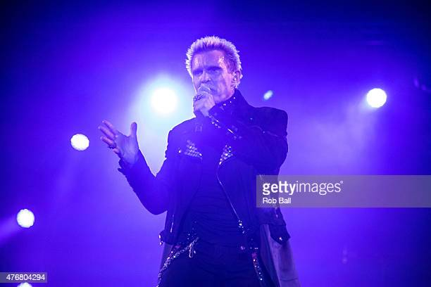 Billy Idol performs on Day 1 of the Isle of Wight Festival at Seaclose Park on June 11 2015 in Newport Isle of Wight
