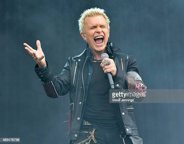 Billy Idol performs on Day 2 of the 8th Annual Outside Lands Festiva at Golden Gate Park on August 8 2015 in San Francisco California