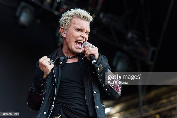 Billy Idol performs on stage at Music Midtown in Piedmont Park on September 19 2015 in Atlanta Georgia