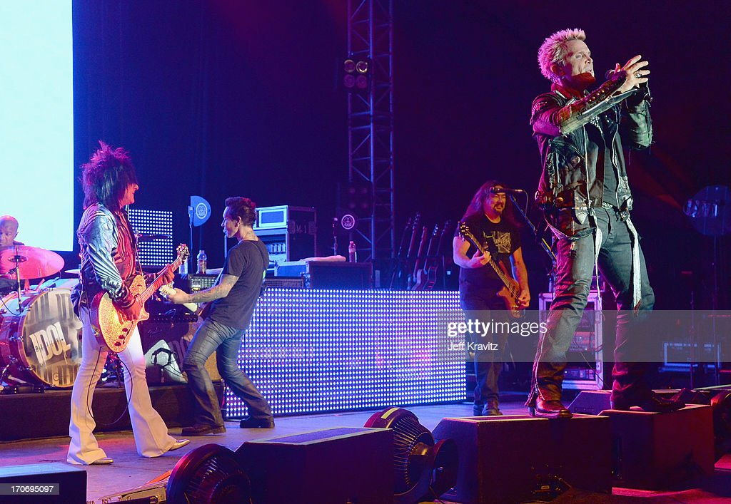 Billy Idol performs onstage at That Tent during day 3 of the 2013 Bonnaroo Music & Arts Festival on June 15, 2013 in Manchester, Tennessee.