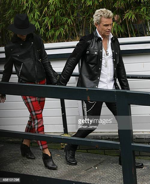 Billy Idol sighting at the ITV studios on October 30 2014 in London England