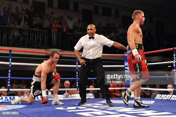 Billy Joe Saunders as he secures victory over Jarrod Fletcher for the Commonwealth Middleweight Championship bout at York Hall London