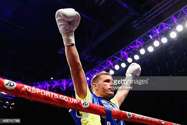 Billy Joe Saunders enters the ring in a confident mood before fighting Chris Eubank Junior in the british european and commonwealth middleweight...