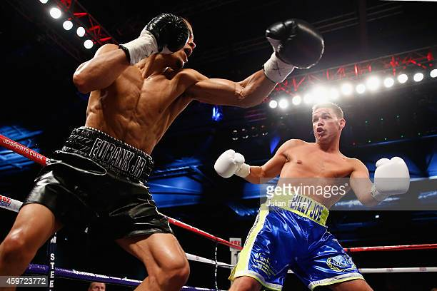 Billy Joe Saunders fights Chris Eubank Junior during Boxing at ExCel on November 29 2014 in London England