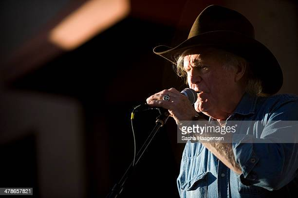 Billy Joe Shaver performs at the Grammy Block Party held at Four Seasons Hotel on March 13 2014 in Austin Texas