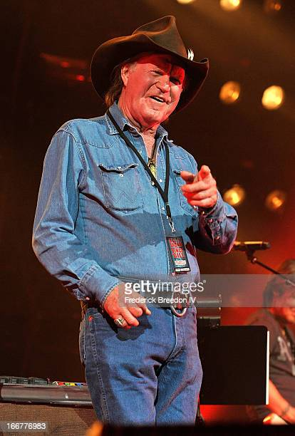 Billy Joe Shaver performs during Keith Urban's Fourth annual We're All For The Hall benefit concert at Bridgestone Arena on April 16 2013 in...