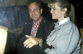 Billy Joel and Christie Brinkley during Party for Billy Joel's TV Special A Matter of Trust Billy Joel in the USSR June 2 1988 at Hard Rock Cafe in...