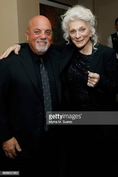 Billy Joel and Judy Collins attend Billy Joel's 40th consecutive soldout show at Madison Square Garden on April 14 2017 in New York City