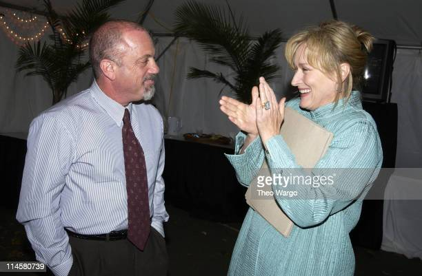 Billy Joel and Meryl Streep during Billy Joel Meryl Streep Wynton Marsalis Perform at 9/11 Memorial Concert in Central Park at Central Park Great...